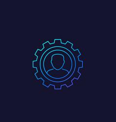 Account settings edit profile linear icon vector