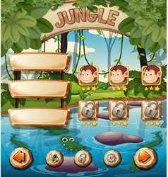 animal jungle game template vector image
