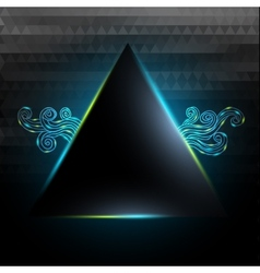 Black triangle with lights and doodle vector image