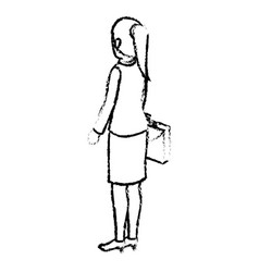 businesswoman isometric avatar character with vector image