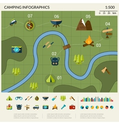 Camping Infographics Set vector