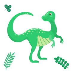 Cartoon dinosaur seamless vector