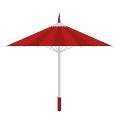 cartoon umbrella traditional japanese icon vector image