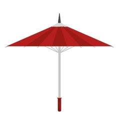 Cartoon umbrella traditional japanese icon vector