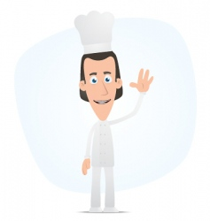 Chef welcomes vector