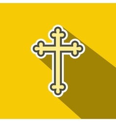 Christian cross flat icon vector image