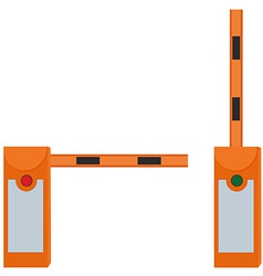 Closed and opened barriers vector