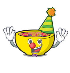 Clown soup union mascot cartoon vector