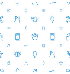 collection icons pattern seamless white background vector image