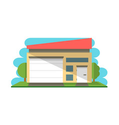 commercial warehouse structure isolated icon vector image