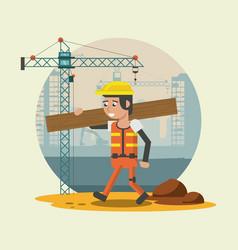 Construction worker cartoons vector