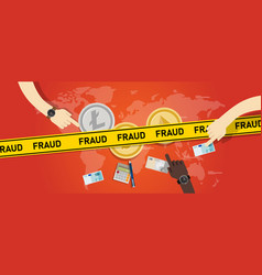 cryptocurrency fraud investment scam crypto vector image