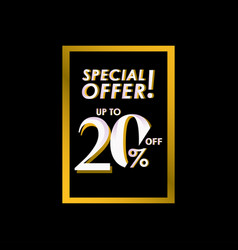 Discount special offer up to 20 off label vector