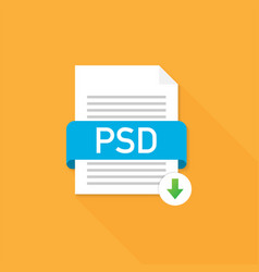 download psd button downloading document concept vector image