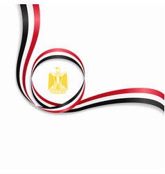 Egyptian wavy flag background vector