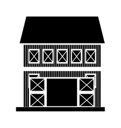 Farm barn house vector