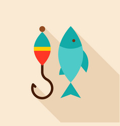fishing object icon vector image