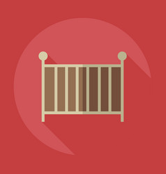 Flat modern design with shadow icons cot vector