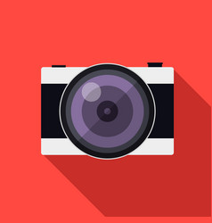 flat style camera with long shadows vector image