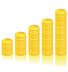 graph gold coins vector image
