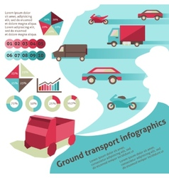 Ground transport infographics vector