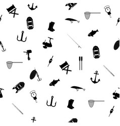 Hand drawn fishing elements graphic vector
