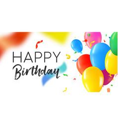 Happy birthday party balloon web banner card vector