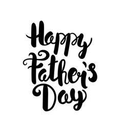 Happy fathers day lettering logo greeting card vector