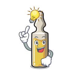 Have an idea ampoule mascot cartoon style vector