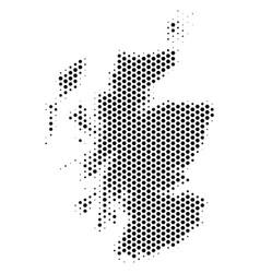 Hexagonal scotland map vector