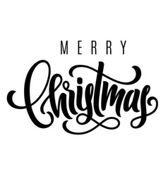 holiday hand lettering merry christmas vector image