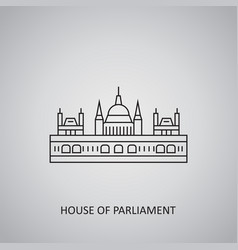 House parliament icon on grey background vector
