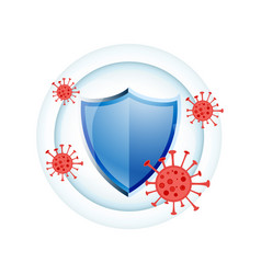 Immune system medical protection shield concept vector