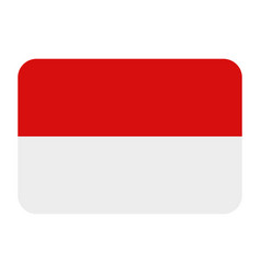 indonesia flag in on white background vector image