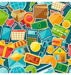 Internet shopping seamless pattern vector