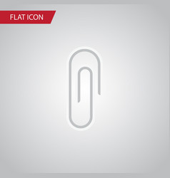 isolated clip flat icon fastener page vector image