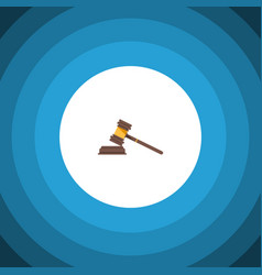 isolated crime flat icon court element can vector image
