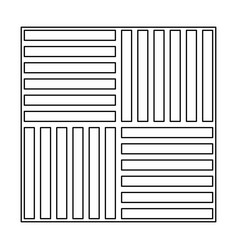 Laminate flooring the black color icon vector