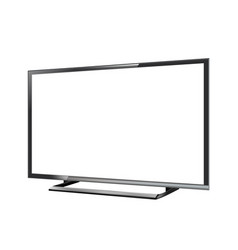 led tv screen blank on white background vector image