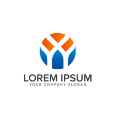 letter y logo design concept template vector image