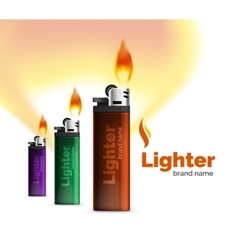Lighter ad template with orange blaze vector