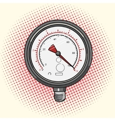 Manometer measuring device comic book vector