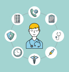 Medical health care image vector