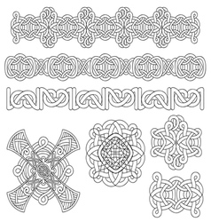 Medieval decoration set vector image
