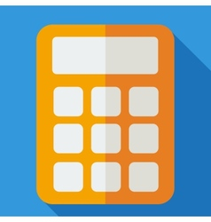 Modern flat design concept icon calculator vector image vector image