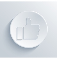 Modern light thumbs up circle icon vector