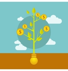 money growing on tree business vector image