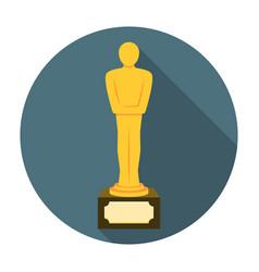 Movie award flat icon vector