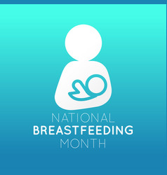 National breastfeeding month logo icon vector