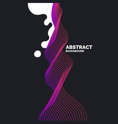 organic forms with dynamic waves and lines on a vector image